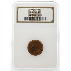 1904 Indian Head Cent NGC MS64 RD