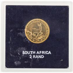 1966 South Africa 2 Rand Gold Coin