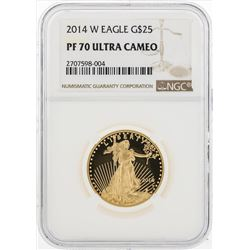 2014-W $25 American Eagle Gold Coin NGC PF70 Ultra Cameo
