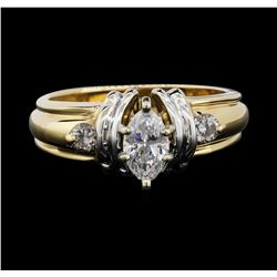 14KT Two Tone Gold 0.76ctw Diamond Ring