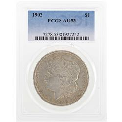 1902 $1 Morgan Silver Dollar Coin PCGS AU53