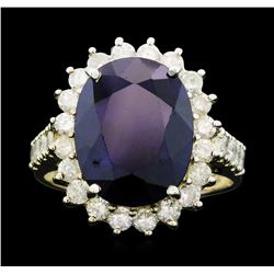 14KT White Gold 8.94ct Sapphire and Diamond Ring