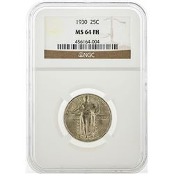 1930 Standing Liberty Silver Quarter NGC MS64 Full Head