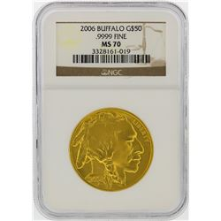 2006 $50 American Buffalo Gold Coin NGC Graded MS70