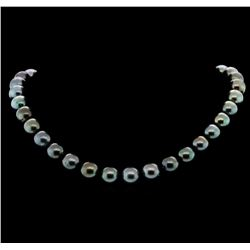 14KT White Gold 11-13mm Tahitian Pearl Necklace
