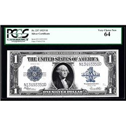1923 $1 Silver Certificate Note PCGS Very Choice New 64