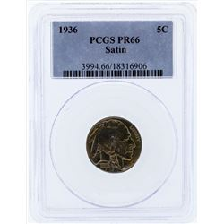 1936 Buffalo Proof Nickel PCGS PR66 Satin