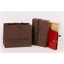 Authentic Louis Vuitton Red Vernis Monogram Agenda Planner