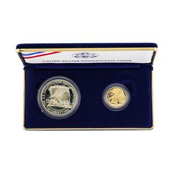 1987 United States Constitution (2) Coin Gold & Silver Set