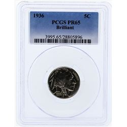 1936 Buffalo Proof Nickel PCGS PR65 Brilliant