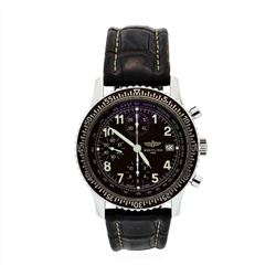 Rare Mens Breitling Havana Brown Navitimer Aviastar Watch