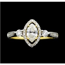 14KT White Gold 0.79ctw Diamond Ring