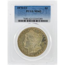 1878-CC $1 Morgan Silver Dollar Coin PCGS Graded MS62