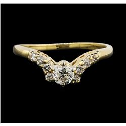 14KT Yellow Gold 0.55ctw Diamond Ring