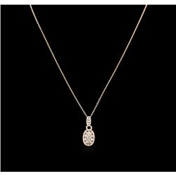 14KT Rose Gold 1.24ctw Diamond Pendant With Chain