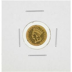 1857 $1 Indian Princess Head Gold Dollar Coin Type 3