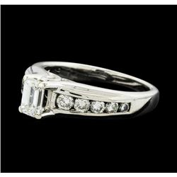 14KT White Gold 1.01ctw Diamond Ring