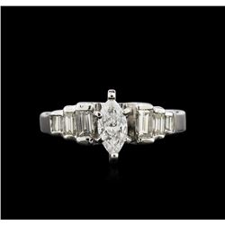 14KT White Gold 0.73ctw Diamond Ring