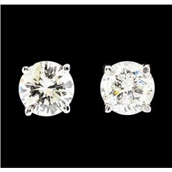 14KT White Gold 1.28ctw Diamond Earrings