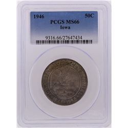 1946 Half Dollar Iowa Centennial Commemorative Coin PCGS Graded MS66