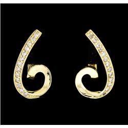 14KT Yellow Gold 0.33ctw Diamond Earrings