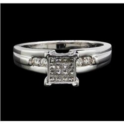14KT White Gold 0.80ctw Diamond Ring
