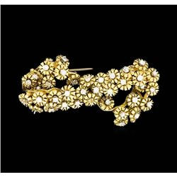 18KT Yellow Gold 1.50ctw Diamond Brooch