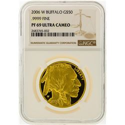 2006-W $50 Buffalo Gold Coin NGC Graded PF69 Ultra Cameo
