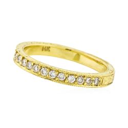 14K Yellow Gold 0.18ctw Brilliant Round Diamond Ring
