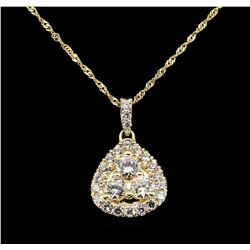 14KT Yellow Gold 0.87ctw Diamond Pendant with Chain