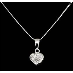 14KT and 18KT White Gold 0.25ctw Diamond Pendant with Chain