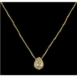 14KT Yellow Gold 0.45ctw Diamond Pendant with Chain