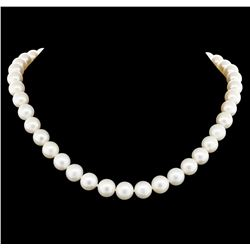 14KT White Gold 9mm Cultured Freshwater Pearl Necklace