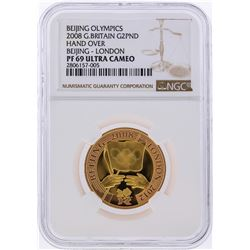 2008 2 Pound Great Britain Olympic Gold Coin NGC PF69 Ultra Cameo