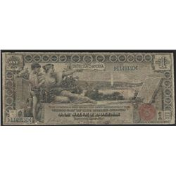 1896 $1 Silver Certificate Educational Note Pinholes & Splits