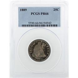 1886 Liberty Quarter Dollar Coin PCGS PR66