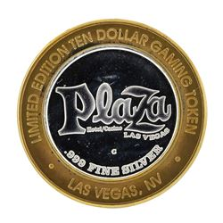 .999 Silver Plaza Hotel and Casino Las Vegas Nevada $10 Casino Limited Edition G