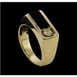 14KT Yellow Gold 0.29ctw Mens Diamond Ring