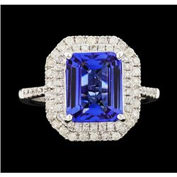 14KT White Gold 3.65ct Tanzanite and Diamond Ring