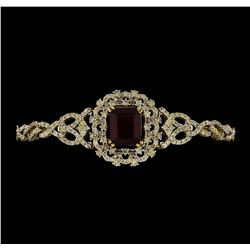 14KT Yellow Gold 9.14ctw Ruby and Diamond Bracelet
