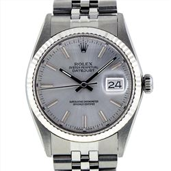 Rolex Mens Stainless Steel DateJust Wristwatch