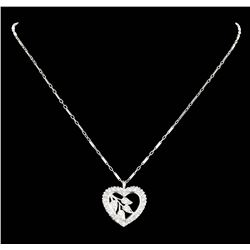 14KT White Gold 0.55ctw Diamond Pendant with Chain