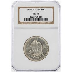 1935-D Texas Half Dollar Coin NGC MS66
