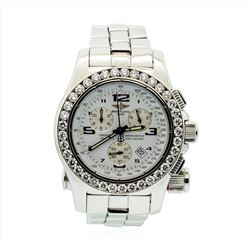 Breitling Stainless Steel Emergency Mission 5.00ctw Diamond Wristwatch