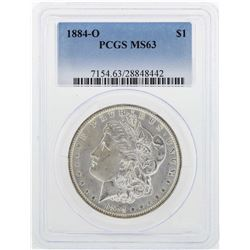 1884-O $1 Morgan Silver Dollar Coin PCGS MS63