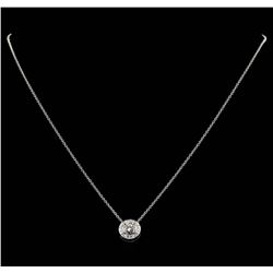 14KT Yellow Gold 0.58ctw Diamond Pendant with Chain