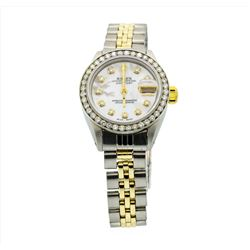 Rolex Ladies Two Tone 14KT Gold 1.00ctw Diamond Datejust Wristwatch
