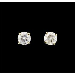 14KT Yellow Gold 1.48ctw Diamond Earrings