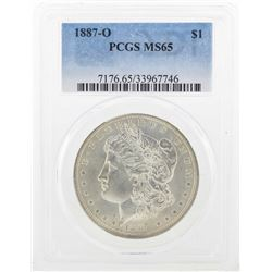 1887-O $1 Morgan Silver Dollar Coin PCGS MS65