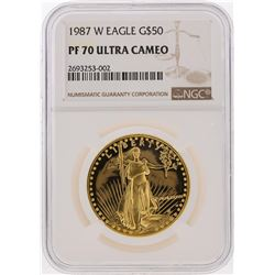 1987-W $50 American Gold Eagle Coin NGC Graded PF70 Ultra Cameo
